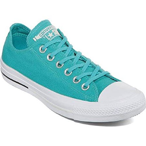 Converse Unisex CTAS SHIELD CANVAS OX, AEGEAN AQUA/BLACK/BUFF, 6.5