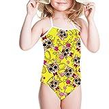 HUGS IDEA Little Girls One Piece Swimsuit Adjustable Bikini Bathing Suit Sunglasses Cats Print Funny Swimwear