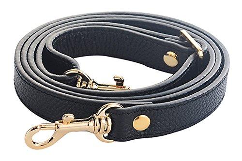 SeptCity Top Quality Grain Leather Adjustable Shoulder Straps -1.8 CM Width(20 (Strap Bag Handbag Purse)