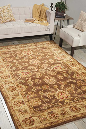 Nourison Jaipur (JA23) Brown Rectangle Area Rug, 7-Feet 9-Inches by 9-Feet 9-Inches (7'9