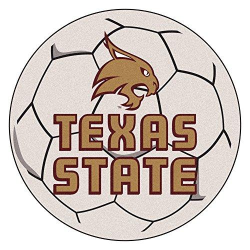 (NCAA Texas State University Bobcats Soccer Ball Mat Round Area Rug)