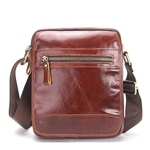 Bag il lavoro Messenger Messenger Bags scuola la Uomo Crossbody Bag vintage marrone per Aszdfihas Travel in pelle Day e Fq16S