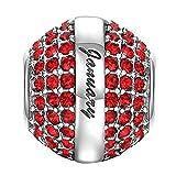 SOUFEEL Birthstone Swarovski Crystal Charm 925 Sterling Silver Beads Fit European Bracelet