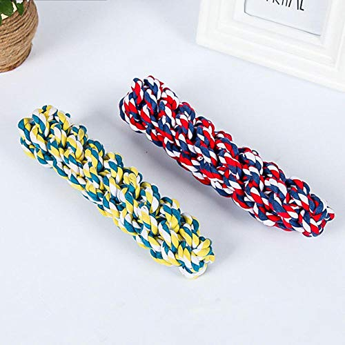(Aolvo Dog Rope Toy for Aggressive Chewers - Original Cotton- Extra Sturdy - Large Dogs Teething Puppies - Heavy Duty - Dental Floss - Classic Tug War - Nearly Indestructible - Random Color- 1 Pcs)