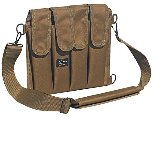 Galati Gear 9MM Shoulder Magazine Pouch - Holds 8 (Coyote Brown) (9mm 8 Round Magazine)