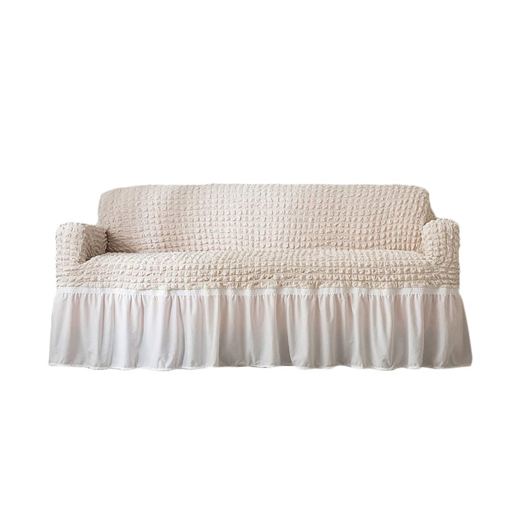 Amazon.com: CoutureBridal Beige Ruffled Sofa Slipcovers for ...
