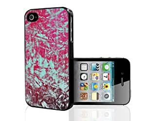 Teal and Pink Abstract Art Hard Snap on Case (iPhone 4/4s)