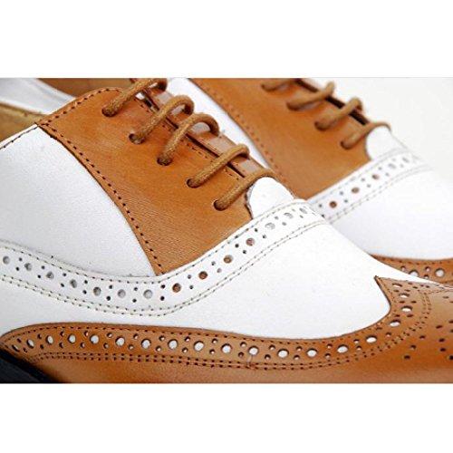 Uomo da Abbinamenti da Traspiranti Brown Scarpe in Sposa Colori di Scarpe Punta A Scarpe Stringate da Retro Scarpe Scarpe Pelle Lavoro TXf5wqT