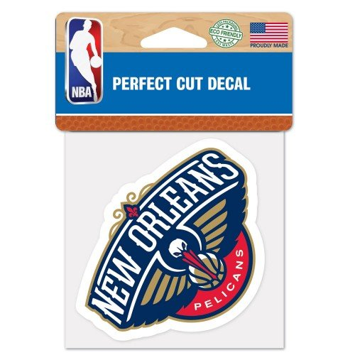 New Orleans Pelicans Perfect Cut Color Decal 4x4 ASFS