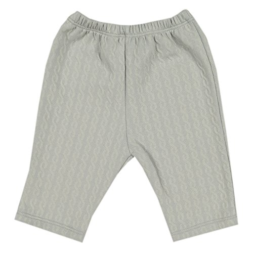 Kissy Kissy Unisex Baby Cable Couture Jacquard Pant - Silver-6-9mos Pima Cotton Cable