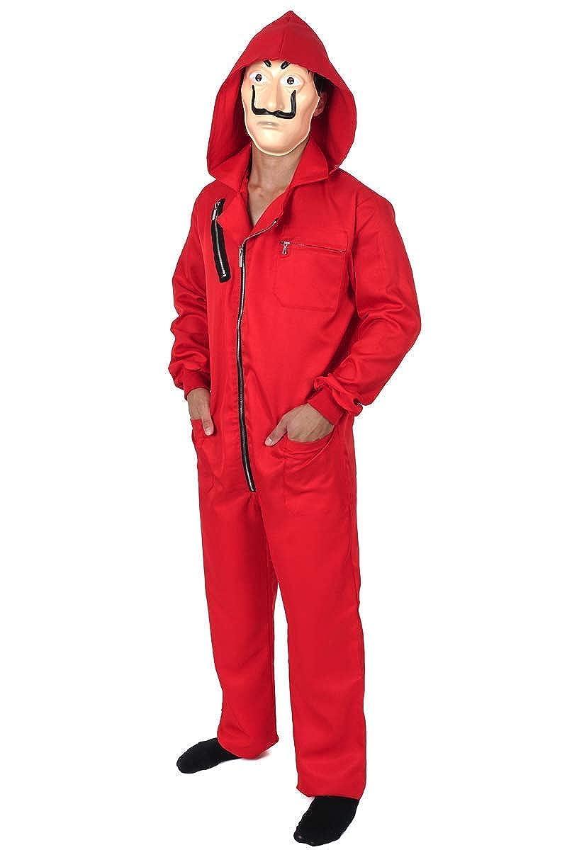 Amazon.com: La Casa De Papel - Disfraz de mono rojo para ...