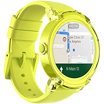 Ticwatch E Most Comfortable Smartwatch-Lemon,1.4 inch OLED Display,Wear OS by Google,Compatible with iOS and Android, Google Assistant