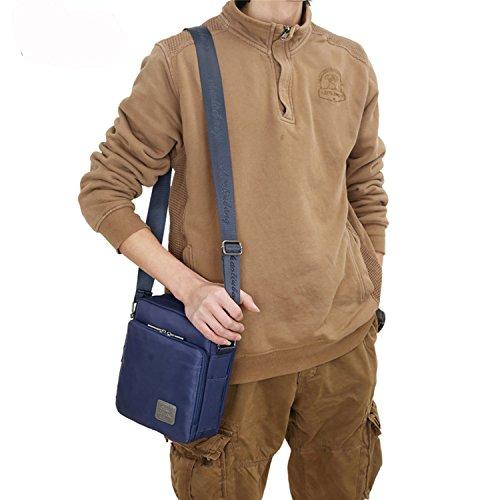 Outreo Pequeñas Bolso Bandolera Mujer Bolsos Hombre Nylon Vintage Messenger Bag Bolsos para Escolares Libro Bolsa Tablet Bolsas de Viaje Azul