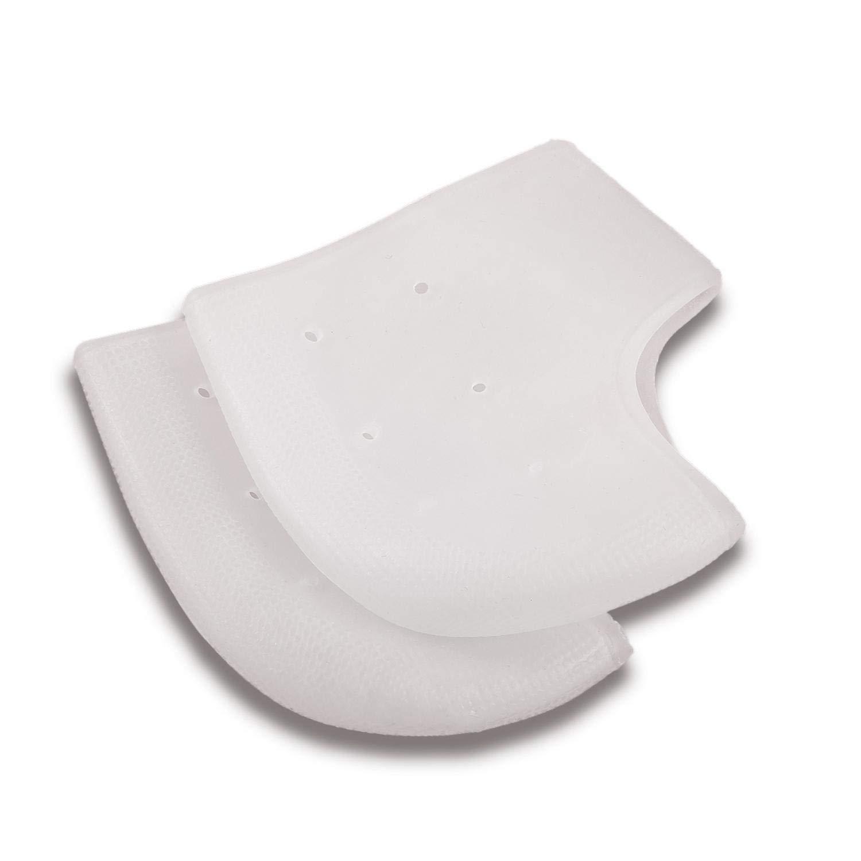 4 Types Gel Heel Socks, Silicone Moisturizing Gel Heel Protect Socks Dry Cracked Foot Sleeves Pain Relief Women and Men(White)