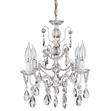 """Madeleine Collection' All Crystal Swag Chandelier Lighting with 4 Lights, Mini Style W13.5"""" X H14"""""""