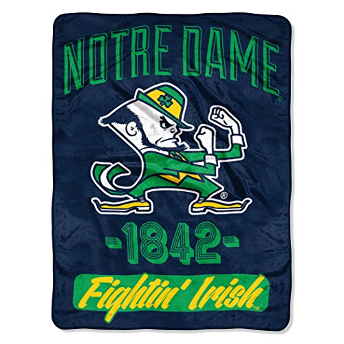 The Northwest Company Officially Licensed NCAA Notre Dame Fighting Irish Varsity Micro Raschel Throw Blanket, 46
