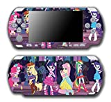 My Little Pony Friendship is Magic MLP Equestria Girls Rainbow Rocks Dance Video Game Vinyl Decal Skin Sticker Cover for Sony PSP Playstation Portable Slim 3000 Series System