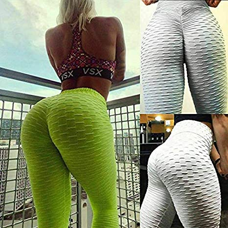 Camo Ruched Push Up Leggings Yoga Pants Anti Cellulite Sports Slim Fit Trousers