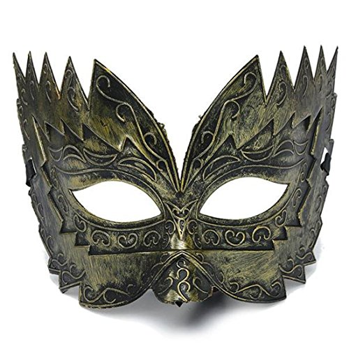 [Men's Vintage Jaggedly Engraved Eye Mask Venetian Masquerade Costume] (Mardi Gras Outfit Ideas)