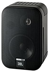 "JBL Control One - Altavoces monitor de audio satélite de estante (2-vías, Pareja, bocina de 100 mm/4""), color cromado negro"