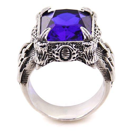 Fashion Men's Titanium Steel Artificial Stone Fashion Ring Gift Size 6-11 6618-0011-11 (12)