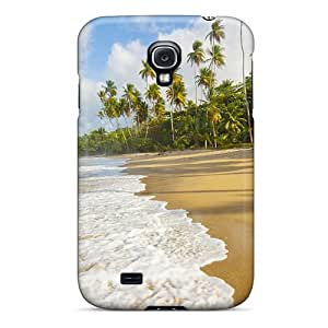 Ideal Ajephke Case Cover For Galaxy S4(wonderful Palm Lined Beach), Protective Stylish Case