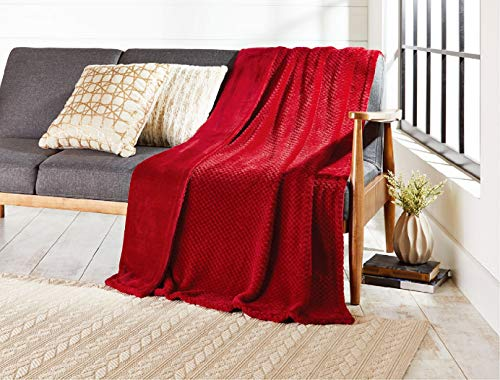 Better Homes and Gardens Throw Blanket (Bright Red) from Better Homes & Gardens