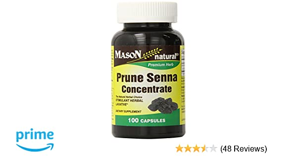 Amazon.com: Mason Natural, Prune Senna Concentrate Capsules, 100 Count, Dietary Supplement, may support healthy Promotes Regular Bowel Movements, ...