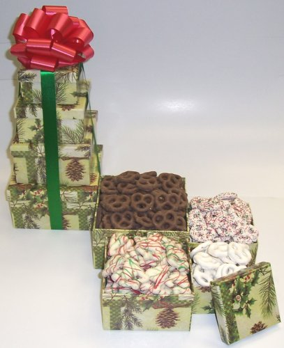 Scott's Cakes 4 Tier Pine Cone Box Chocolate Pretzel Lovers Surprise