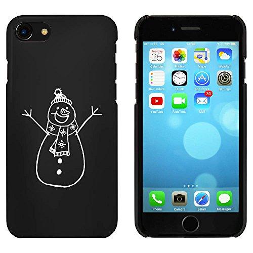 Noir 'Bonhomme de Neige' étui / housse pour iPhone 7 (MC00058551)