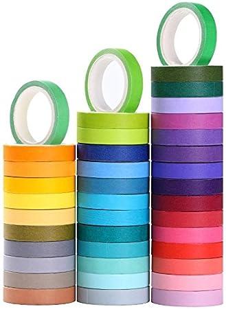 ieebee washi tape set 40 rollen dekorative maskierung diy bander fur kinder und geschenke verpackung