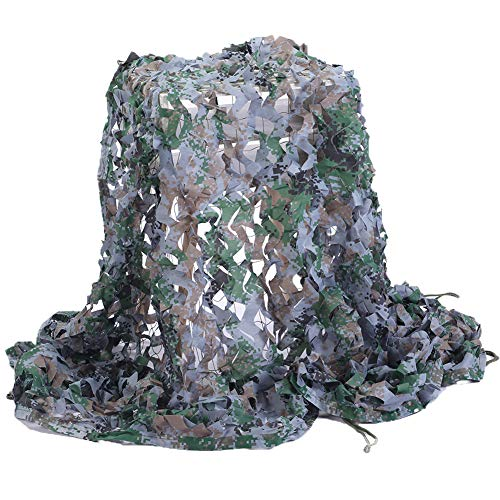 (Senmortar Camo Netting, Camouflage Net Army Mesh nets Woodland Digital Durable for Sunshade Decoration Hunting Blind Shooting Camping Photography 6.56 x 9.8)