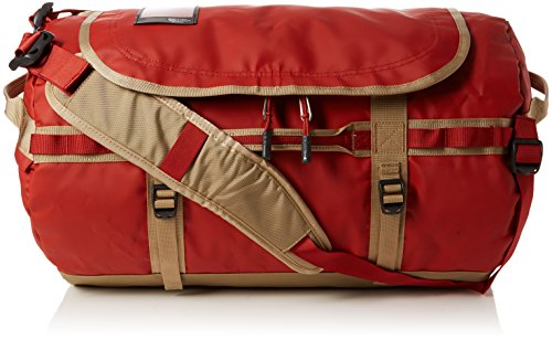 - The North Face Base Camp Duffel - Bossa Nova Red/Kelp Tan Small