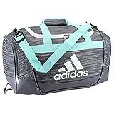 adidas Defender II Small Duffel Bag, One Size, Onix Looper/Energy Aqua/Onix/White