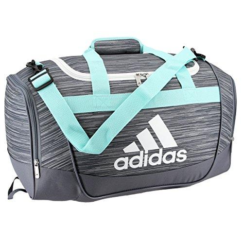 Price comparison product image adidas Defender II Small Duffel Bag, One Size, Onix Looper/Energy Aqua/Onix/White