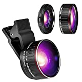 Crenova Phone Camera Lens Kit, 0.45x Wide Angle Lens, HD 128¡ã Super Wide Angle 20X Macro Lens, Clips-On Cell Phone Lens for iPhone/Samsung/Android/Most Smartphones and Tablets