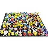 Generic Pokemon Pikachu Monster Mini Plastic Figures Randomly Small Size Gift - 24 Pcs