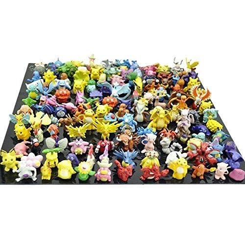 OliaDesign® Mini-figurine Pokémon Pikachu en plastique (24pièces), Petit