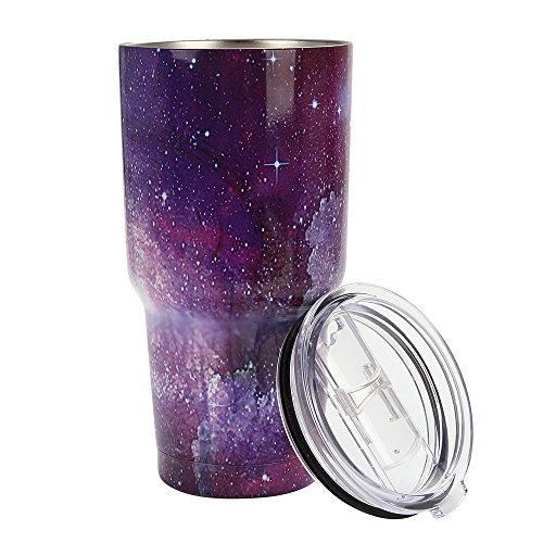 (30 oz Tumbler Stainless Steel Vacuum Insulated Cup for Travel - Multiple colors - lo lord (starry sky 4, 30 oz) )