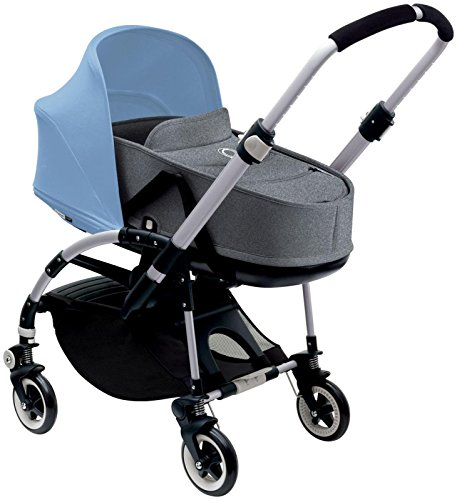 Bugaboo Bee3 Bassinet & Sun Canopy - Ice Blue - Grey Melange by Bugaboo