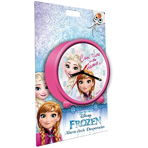 Disney WD19042 Frozen Anna and Elsa Analogue Alarm Clock Euroswan