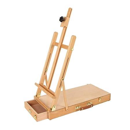 LMDE Mesa de Madera Ajustable Sketchbox Easel, Paleta de Pintura ...