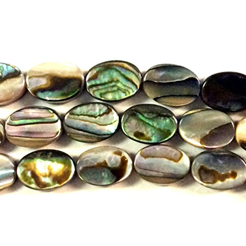 Imagine If...Abalone Oval 7x10mm Beads Gorgeous Natural Gemstone Loose Beads for Jewelry Making