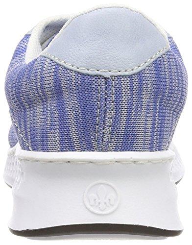 Rieker N5608, Sneakers Basses Femme, Bleu Bleu (Bleu/Sky/Silver)