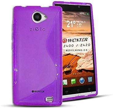 Funda S LINE TPU DE color MORADO para Woxter Zielo Z400 / Z420 HD ...