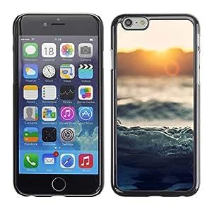 A-type Arte & diseño plástico duro Fundas Cover Cubre Hard Case Cover para Apple (5.5 inches!!!) iPhone 6+ Plus / 6S+ Plus (Waves Sunset Sea Ocean Horizon Magical)