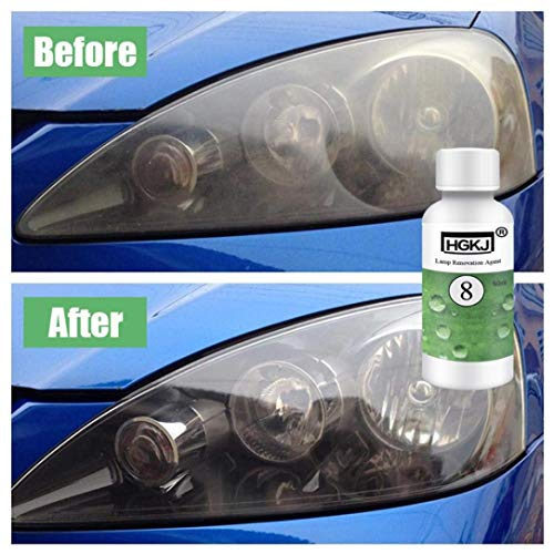 LtrottedJ HGKJ-8 Car Lens Restoration Kit Headlight Brightening Headlight Repair,Hgkj-8 - Car Refurbisher (A) ()