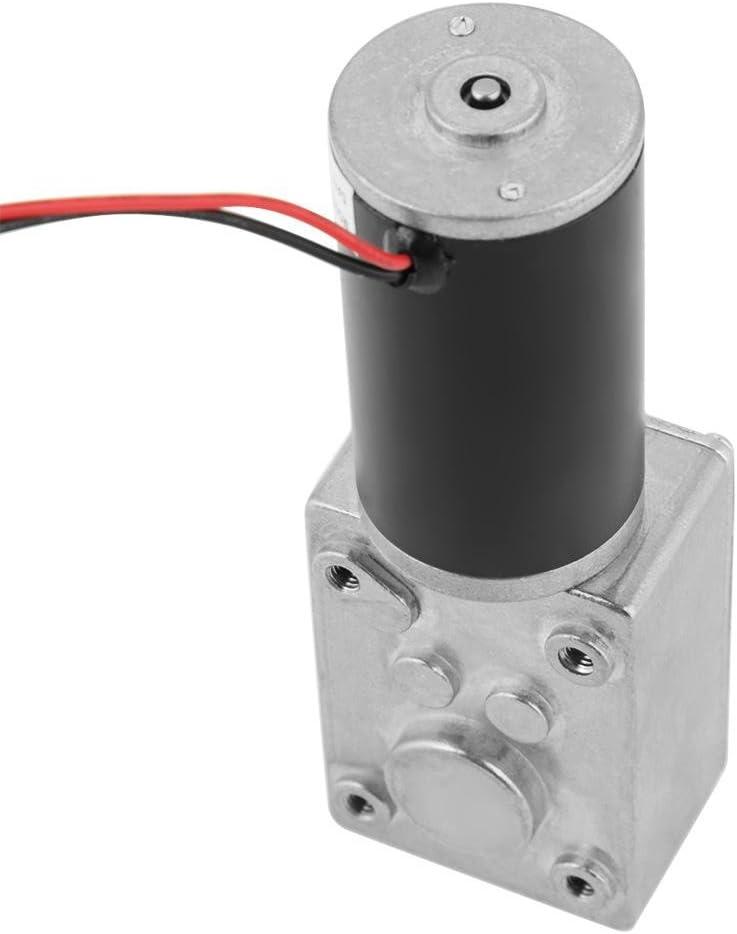 Motor de gusano turbo de 12V motor de engranaje de CC trituradoras de papel y m/áquinas copiadoras adecuado para cortinas de control remoto motor de engranaje de gusano con autobloqueo