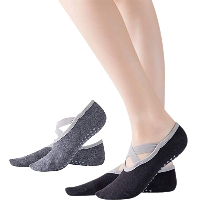 DAZISEN Calcetines Antideslizantes - para Yoga Pilates Barra ...