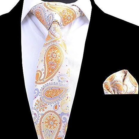 LUHELDM Conjunto de Corbatas y Corbata de 8 cm para Hombre ...